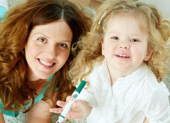 One of the Ashton Warner Professional Nannies with child